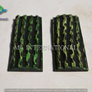 MAJBS05 Dyed Stabilized Jigged Bone Scales