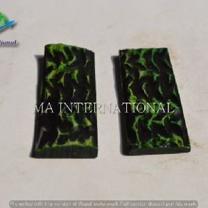 MAJBS07Dyed Stabilized Jigged Bone Scales