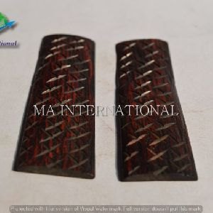 MMAJBS09 Dyed Stabilized Jigged Bone Scales