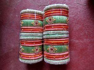 Silk Thread Bangle Set 01