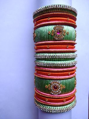 Silk Thread Bangle Set 02