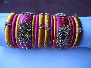 Silk Thread Bangle Set 03