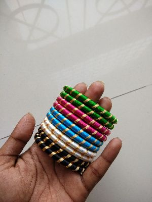 Silk Thread Bangle Set 06