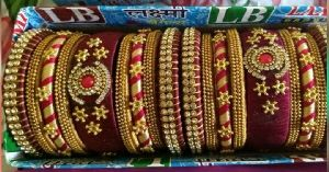 Silk Thread Bangle Set 08