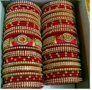 Silk Thread Bangle Set 10