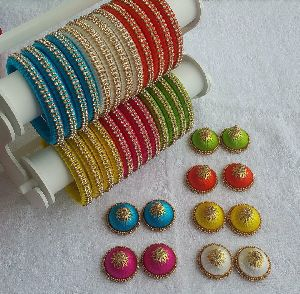 Silk Thread Bangle Set 11