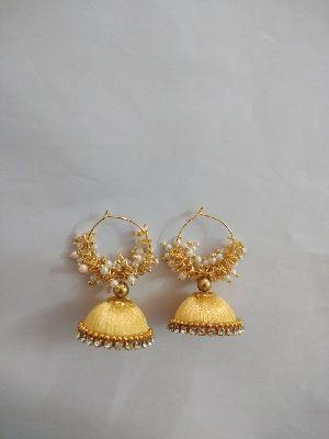 Silk Thread Earrings 01