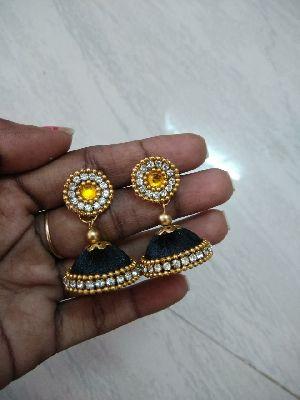 Silk Thread Earrings 02