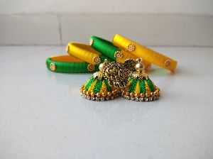 Silk Thread Earrings 03
