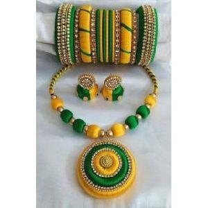 Silk Thread Necklace Set 02