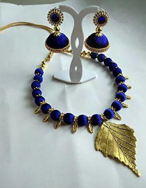Silk Thread Necklace Set 04
