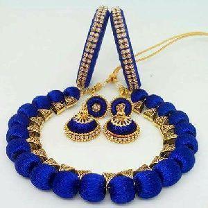 Silk Thread Necklace Set 05