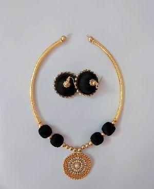 Silk Thread Necklace Set 06