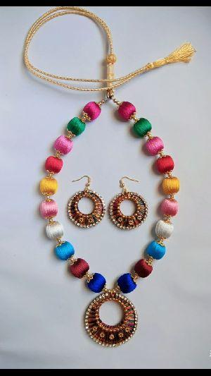 Silk Thread Necklace Set 10