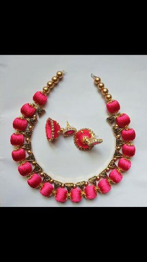Silk Thread Necklace Set 11