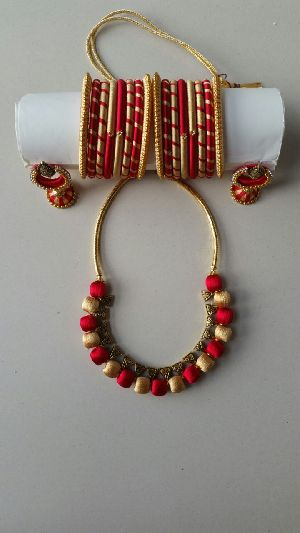 Silk Thread Necklace Set 13