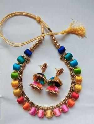 Silk Thread Necklace Set 14
