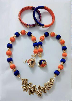 Silk Thread Necklace Set 15