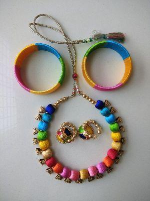 Silk Thread Necklace Set 16