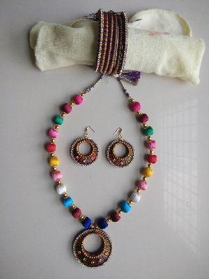 Silk Thread Necklace Set 17