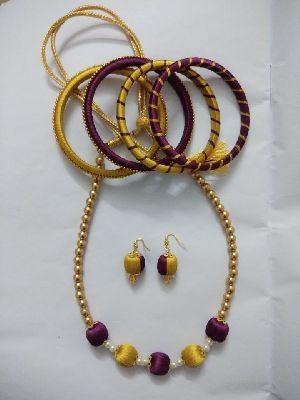 Silk Thread Necklace Set 18