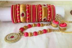Silk Thread Necklace Set 20