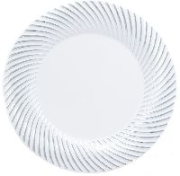 white back disposable paper plates
