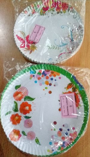 Deluxe paper plates (Size- 12 inch)