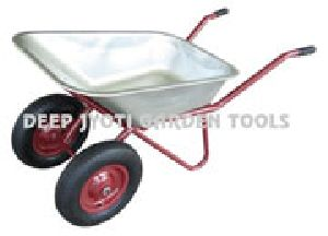 GALVANIZED SHEET DOUBLE WHEEL BARROW