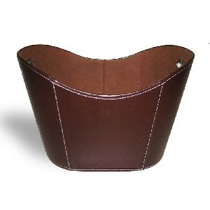 Faux Leather Basket
