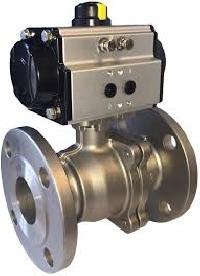 actuator operated ball valve