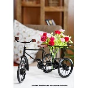 Beautiful Flower Rickshaw For Home Decor
