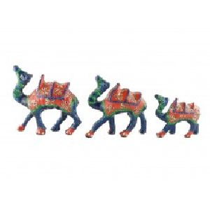 Camel Set of Three with artistic painting of Rajasthan
