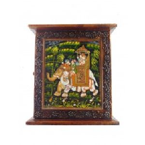 Handmade Decorative Wooden Wall Mounted Key Cabinet