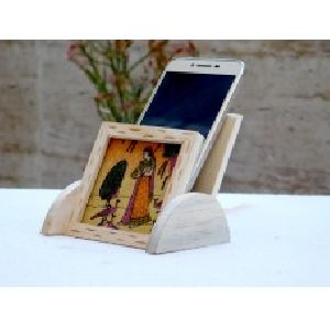 Handmade Wooden Mobile Stand
