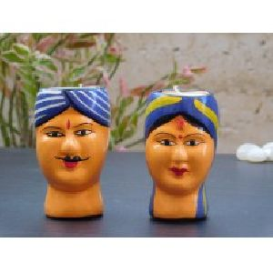 Lovely Wooden faces Votive Candles for every occasions