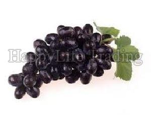 Fresh Black Grapes With Seeds
