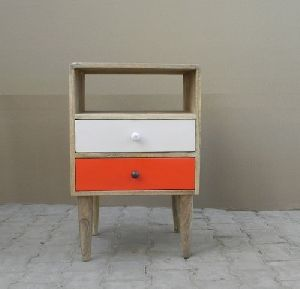 Wooden Bed Side Drawers