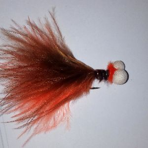 Orange black fritz lure