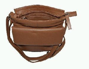 Tan Leather Sling Bag
