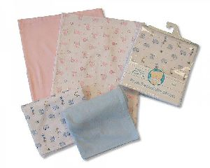 2 Baby Flannelette Bed Sheets