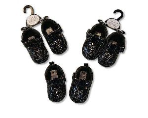 2195 Baby Girls Black Shoes