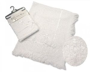 3155 Baby Christening Lace Shawl