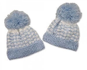 3541 Baby Boy Pom-Pom Hat
