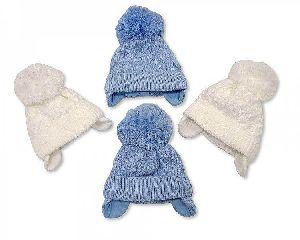 3542 Baby Boy Pom-Pom Hat
