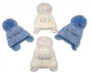 3543 Baby Boy Pom-Pom Hat