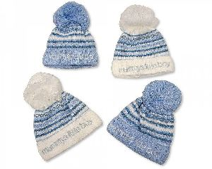 3544 Baby Boy Pom-Pom Hat