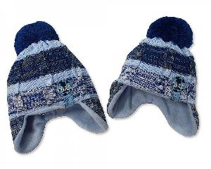 3548 Baby Boy Pom-Pom Hat