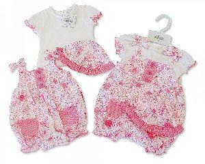 3652 Baby Girl Dungaree Set