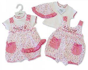 3653 Baby Girl Dungaree Set